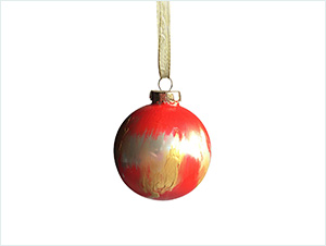 'Big Red' | Hand painted & Signed Ornament