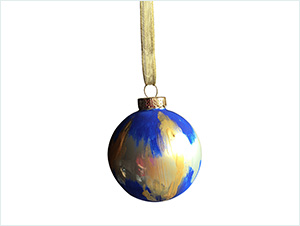 'Midnight Mary' | Hand painted & Signed Ornament