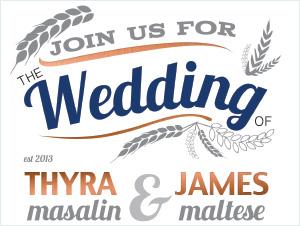 The Malteses | Wedding Invitation