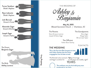 The Zagers | Wedding Program